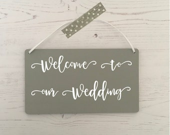 Welcome to our wedding plaque, wedding plaque, wedding gift, wedding keepsake, wedding sign, wedding welcome, wedding accessories