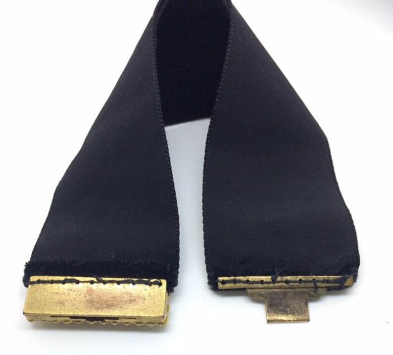 Choker Velvet Ribbon c1780 Georgian Garnet Pinchbeck Clasp Bracelet Antique Flat Cut Garnets