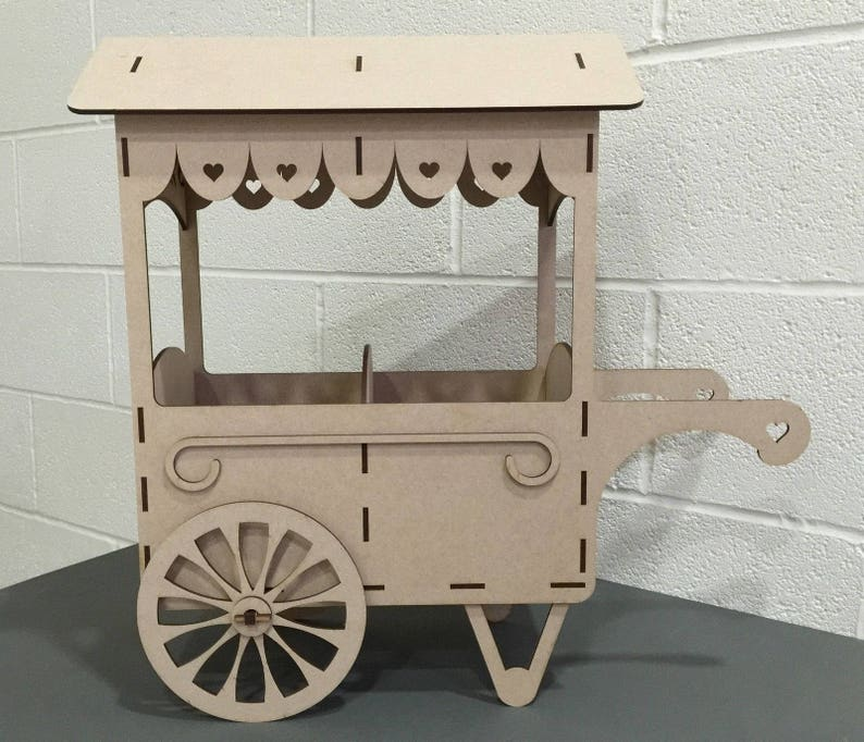 Y68 Mdf Sweets Candy Cart Display Stand Chocolate Wooden Table Top Centre Piece Wedding Engagement Party Candy