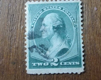 US collectible stamp - scott cat #213 two cent stamp