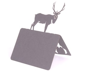 Deer - Place names and Table number table decorations