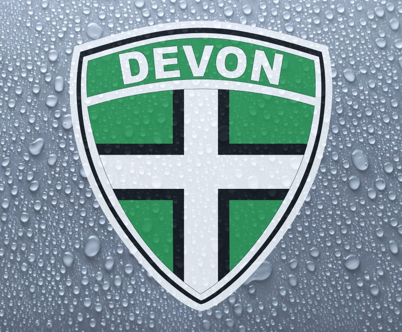 Devon County Flag Number Plate Decals