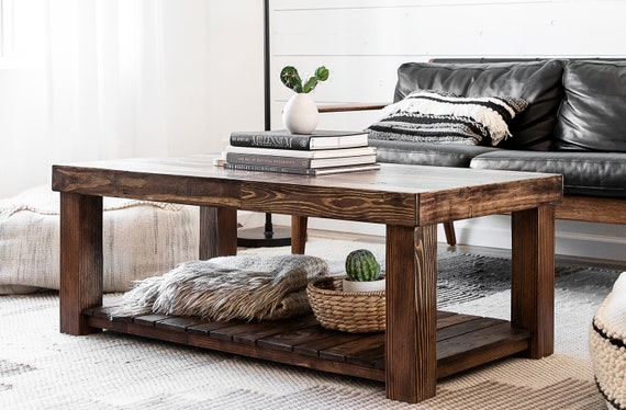 Reclaimed Wood Coffee Table Rustic Vintage Modern Accent Etsy