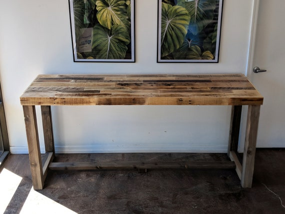 Fantastic Reclaimed Wood Bar Table Restaurant Counter Community Communal Rustic Custom Cafe Coffee Conference Office Meeting Pub High Top Long Thin Pdpeps Interior Chair Design Pdpepsorg