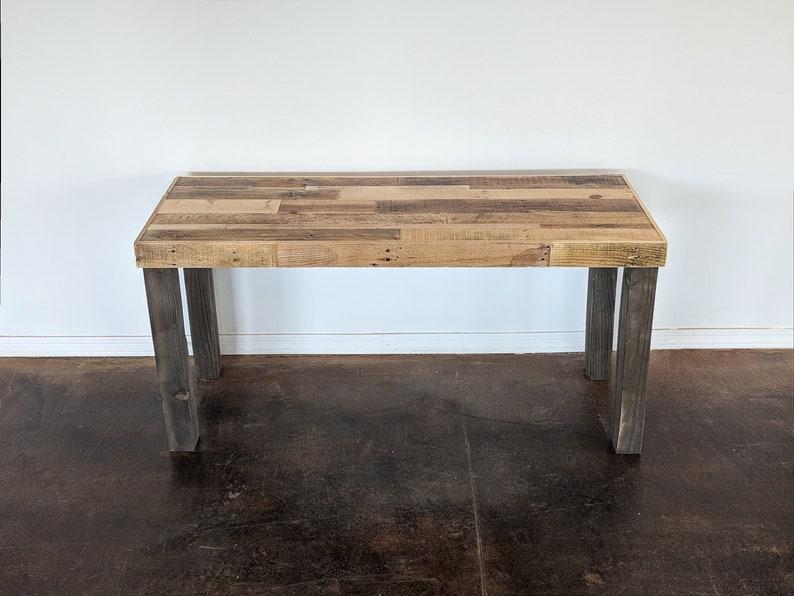 Bureau bois récupéré travail rustique moderne table ordinateur etsy