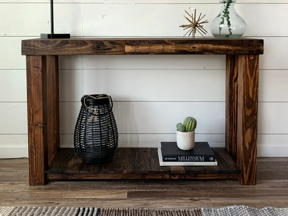 Pleasing Reclaimed Wood Console Table Accent Sofa Entryway Entry Bathroom Vanity Tv Stand Beach House Cabin Recycled Loft Handmade Custom Storage Ibusinesslaw Wood Chair Design Ideas Ibusinesslaworg