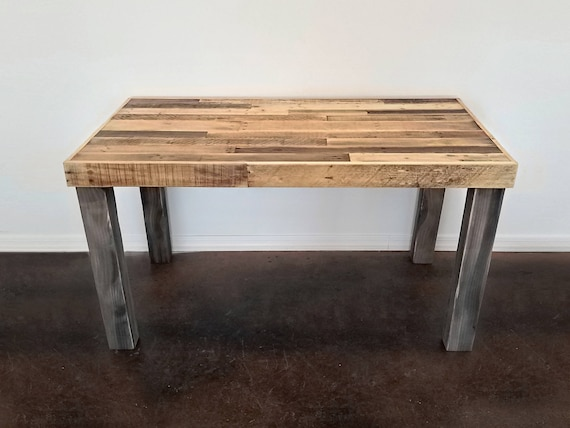 Reclaimed Wood Modern Rustic Desk Work Table Laptop Station Etsy - Reclaimed wood work table