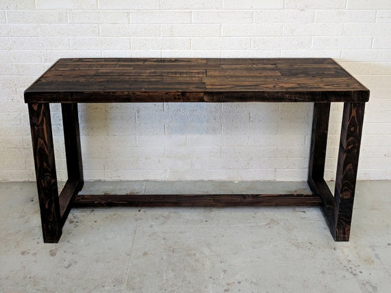 Reclaimed Wood Bar Restaurant Counter Community Communal Etsy - High top communal table