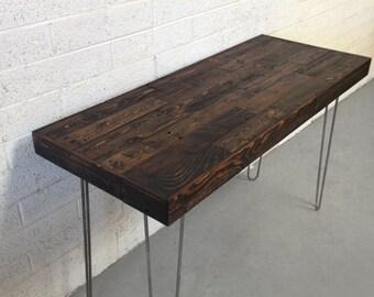 Récupération bois moderne en acier en épingle à cheveux jambe