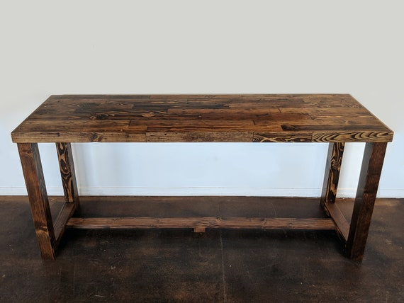 Provincial Reclaimed Wood Bar Restaurant Counter Community Etsy - High top communal table