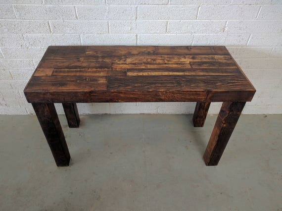 Reclaimed Wood Provincial Modern Rustic Desk Work Table Laptop Etsy - Reclaimed wood work table