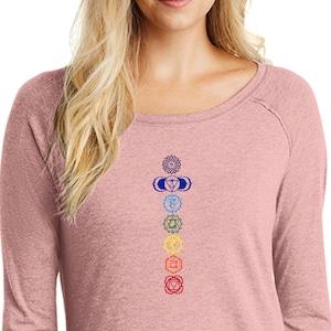 Floral Chakras Ladies Yoga Full Zip Hoody = 71600FL-FLORAL