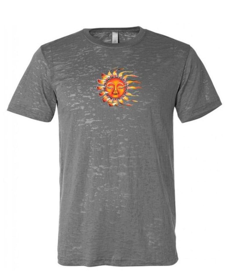 5eac91fabaf Yoga Clothing For You Mens Sleeping Sun Burnout Tee Shirt = NL6110-SUN