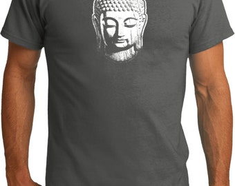 Yoga Clothing For You Mens Shirt Little Buddha Head Organic Tee T-Shirt = PC50ORG-LITTLEBH