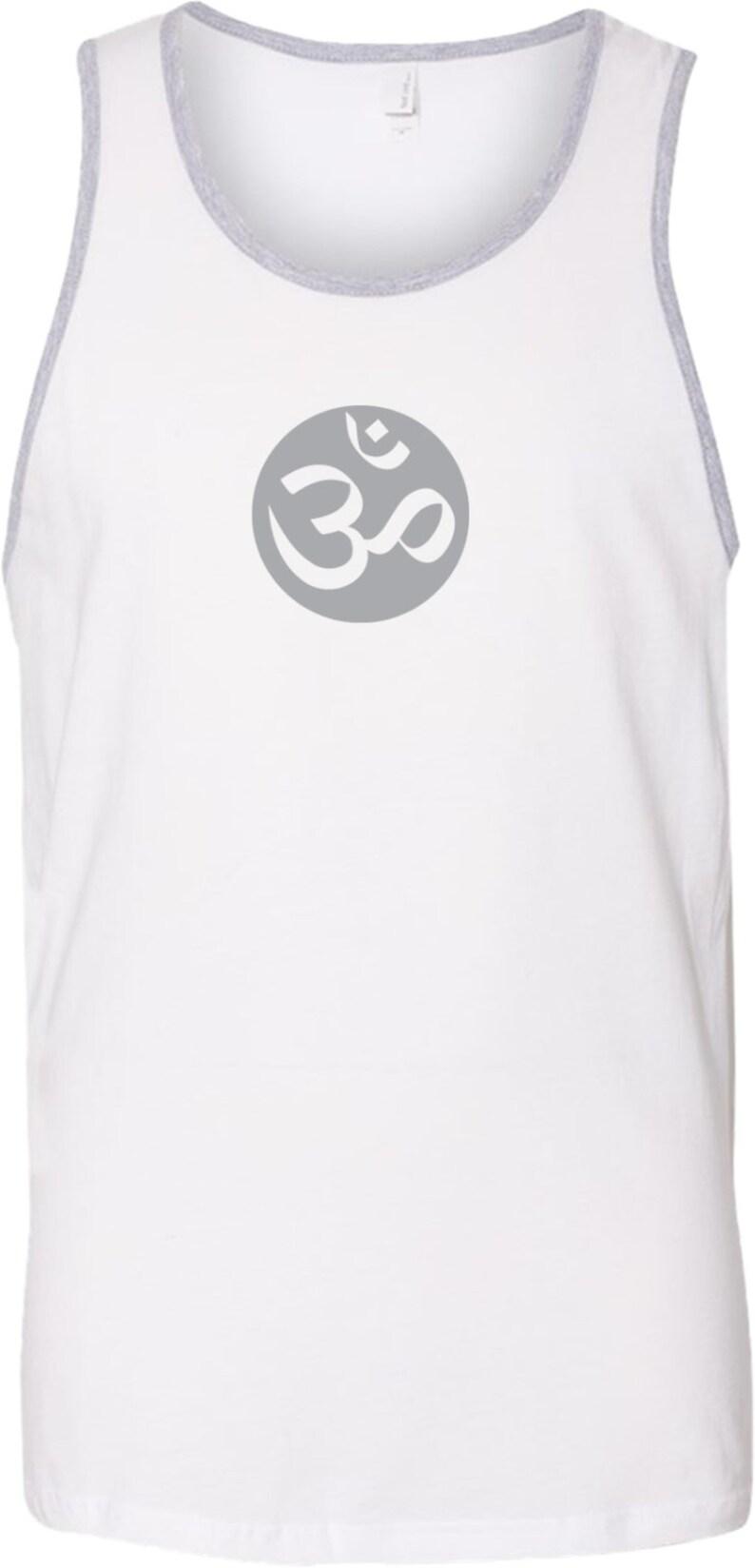 Big OM Print Men/'s Yoga Cotton Tank Top = BIGOM-3633