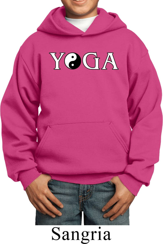 Yin Yang Yoga Text Kid/'s Yoga Hoodie PC90YH-YYTEXT