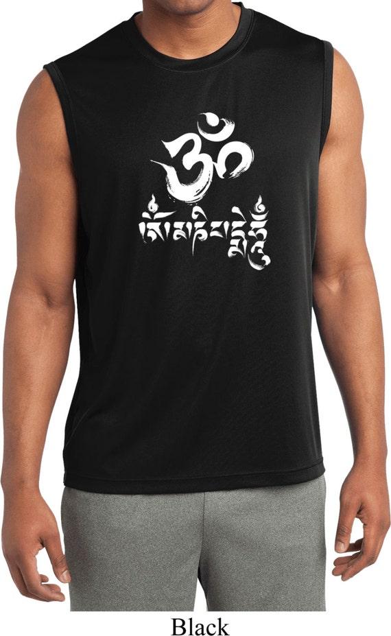 34451a601 Men's Yoga Shirt OM Mani Padme Hum Sleeveless Moisture | Etsy