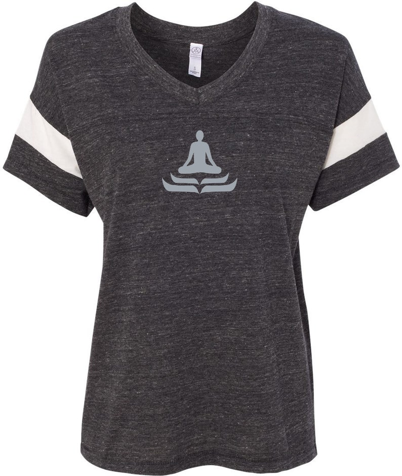 ee079905ab Lotus Pose Ladies Yoga Eco-Jersey Powder Puff Tee Shirt | Etsy