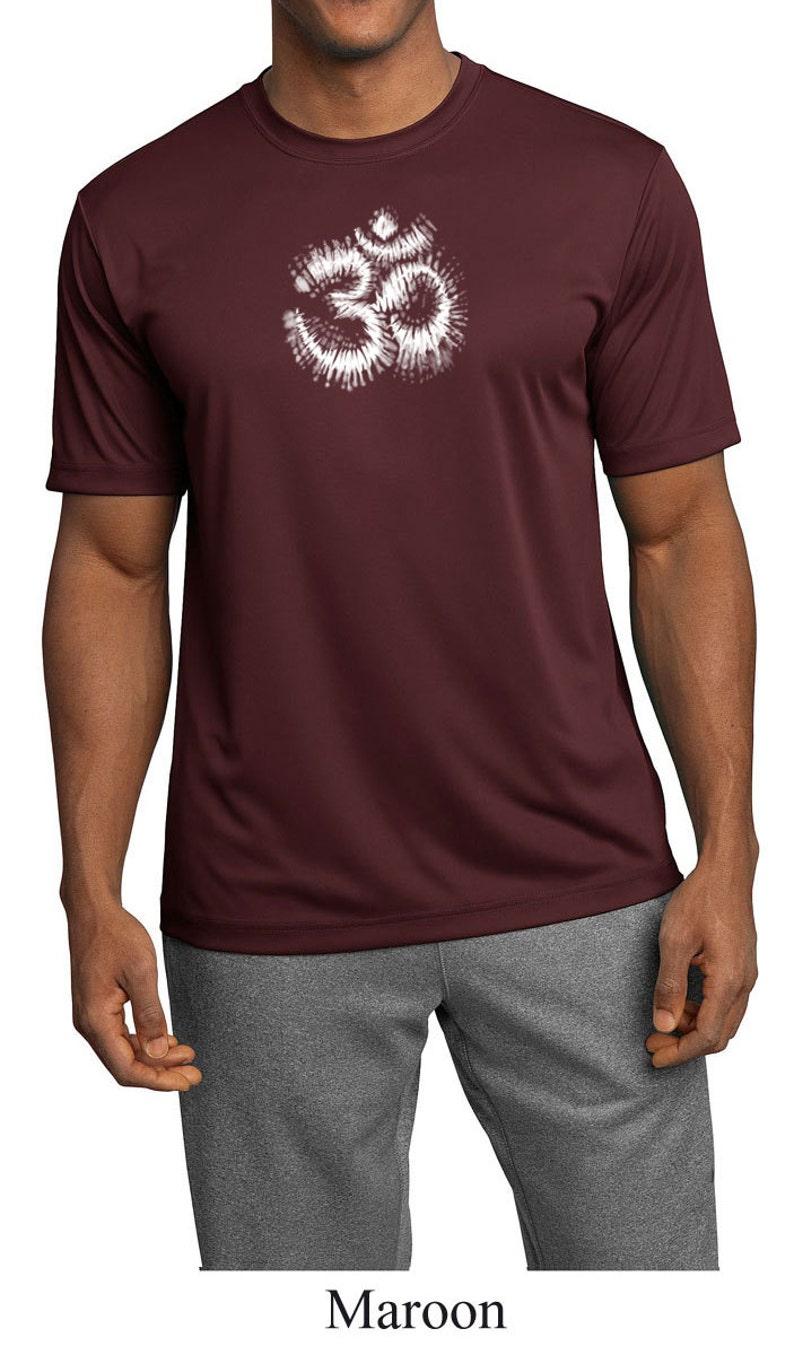 05c89055e Men's Yoga Shirt OM Tie Dye Moisture Wicking Tee T-Shirt | Etsy