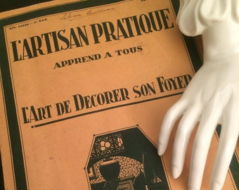 Vintage 1927 French L'ARTISAN PRATIQUE Interior Design Catalog Patterns & Instructions / French Decorator Art Nouveau Magazine / Ephemera
