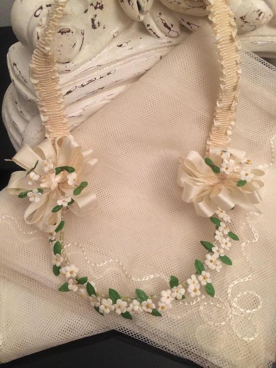 1920's Wedding Crown Headpiece & Veil / Flapper St