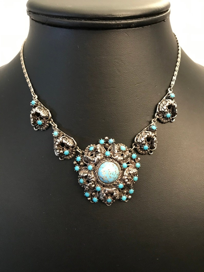 Fashion Jewelry Jewelry & Watches Unmarked Silver Color Jewelry Lot Red Turquoise Color Stone Earrings Pendant
