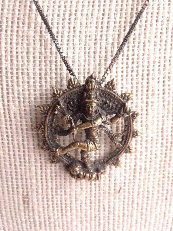Vintage Tibetan Vajrasattva Guru Pendant, Feminine Divine Fierce Dharmaphala