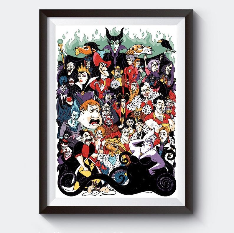 Disney Villain Poster A3 Size image 0