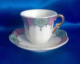 Vintage Miniture Cup & Saucer by The Leonardo Collection