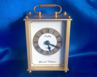 Brass Carrage Clock, 1 AA Battery Operated