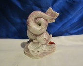 Antique 1874 W. H. Goss Porcelain Dolphin Syphon Inkwell