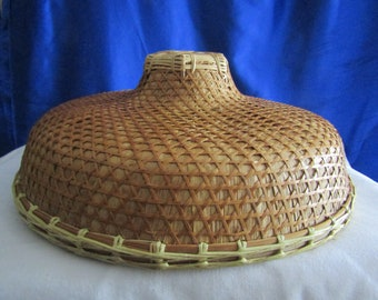 ab521d8cd Vintage Chinese Coolie Bamboo and Straw Hat