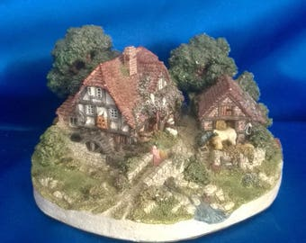 """Vintage Denbury Mint """"The Old Mill"""" by Jane Hart, The Country Cottage Collection, Collectors Item"""