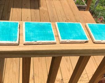 Blue Tile Coasters