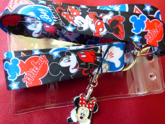 Fast /& Free Post Disney Minnie ID Holder Charm Lanyard Mickey Cartoon /& More