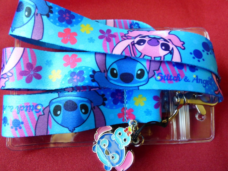 Lilo and Stitch Lanyard Neck Strap ID Pass Badge Keys Charm Phone Disney Inspi