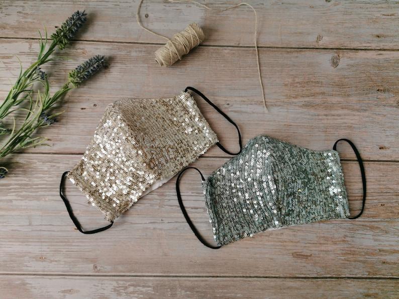 Brautmasken mit Pailletten
