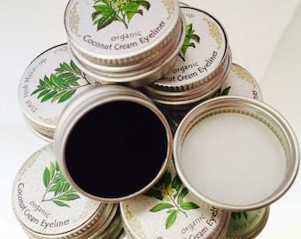 Organic Coconut Eyeliner, ZERO Mineral, BLACK Eyeliner, Vegan, Mica & Oxide Free