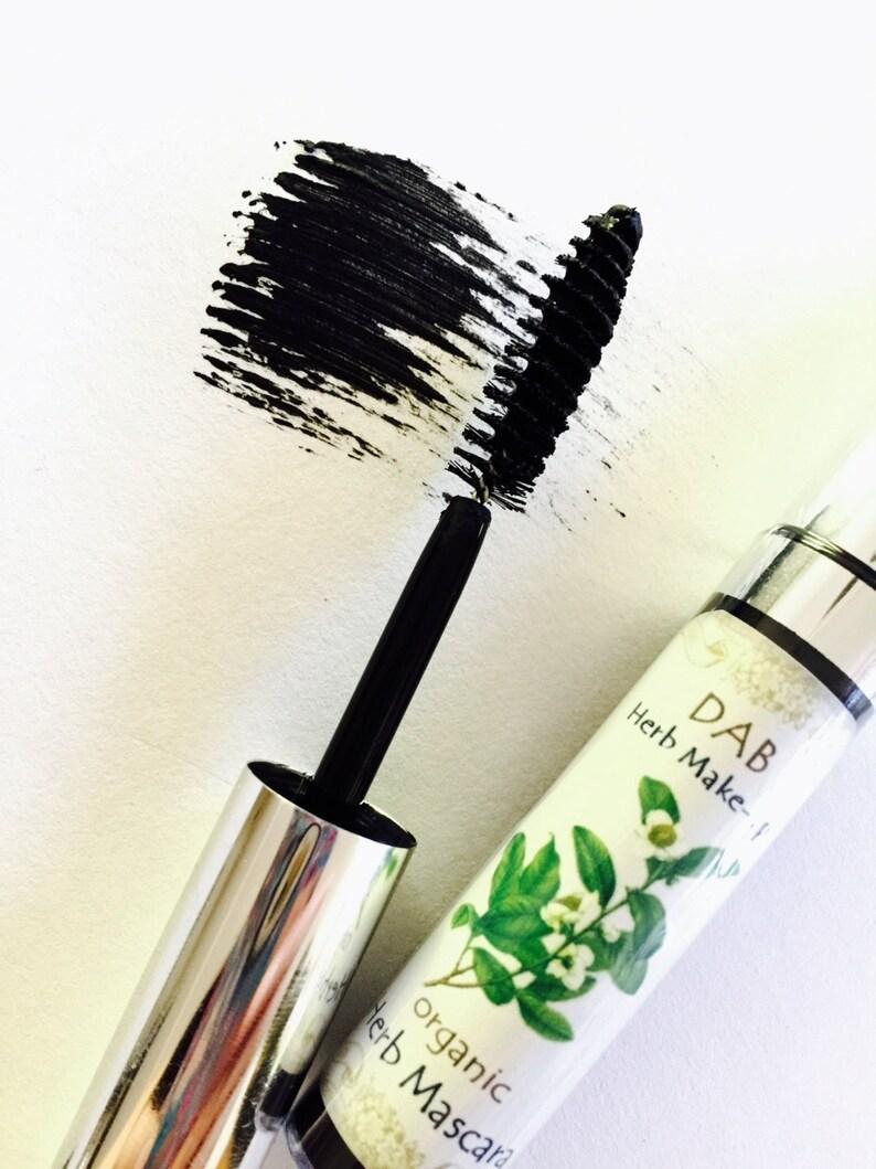 Herb Mascara BLACK Organic 99% Food Grade Non-Waterproof image 0