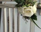 Flowers for the Aisle, pew and chair x2