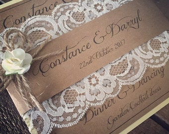 50......A Full set of Wedding Invitations....a set of 50......your complete rustic wedding invites ! DIY also available!!