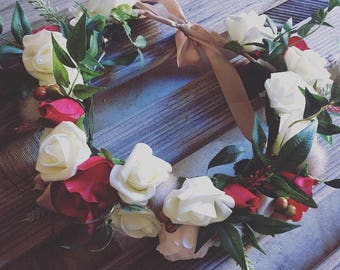 Artificial flower crown for hens,wedding or other!