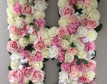 Medium Floral letters for your room, Birthday, Wedding or more