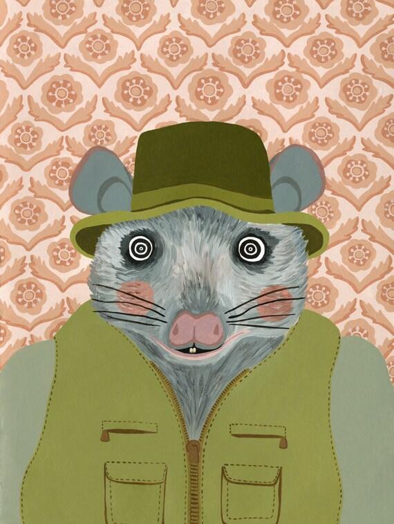 Fantastic Mr Fox Print Wes Anderson Art Fantastic Mr Fox Etsy