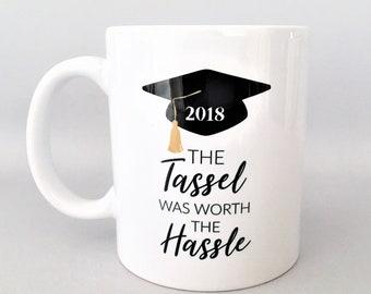 The tassel was worth the hassle mug, Graduation Mugs, Graduation Mug, Graduation Gifts, Gift for the Graduate, Grad Gifts, College Grad Gift