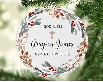 christmas wreath baptism ornament baptism ornament baptism ornaments baptism gift godchild christmas gift christmas gift for godchild