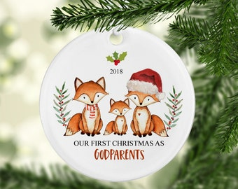 our first christmas as godparents ornament godparent christmas gift godparents gift gift for godparents christmas gift for godparents
