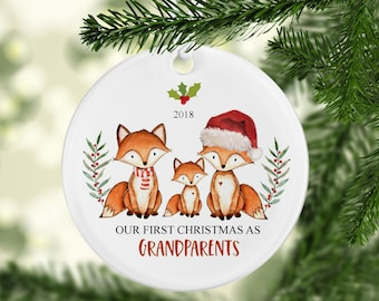 our first christmas as grandparents ornament grandparents ornament gift for new grandparents christmas gift for new grandparents