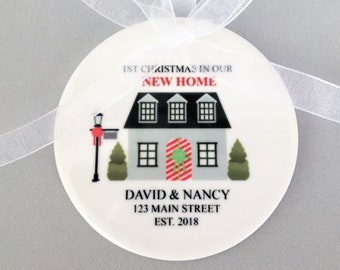 Our First Home Ornament, First Home Ornament, First Home Gift, House Ornament, New Homeowner Gift, New Home Ornament, Our First Home