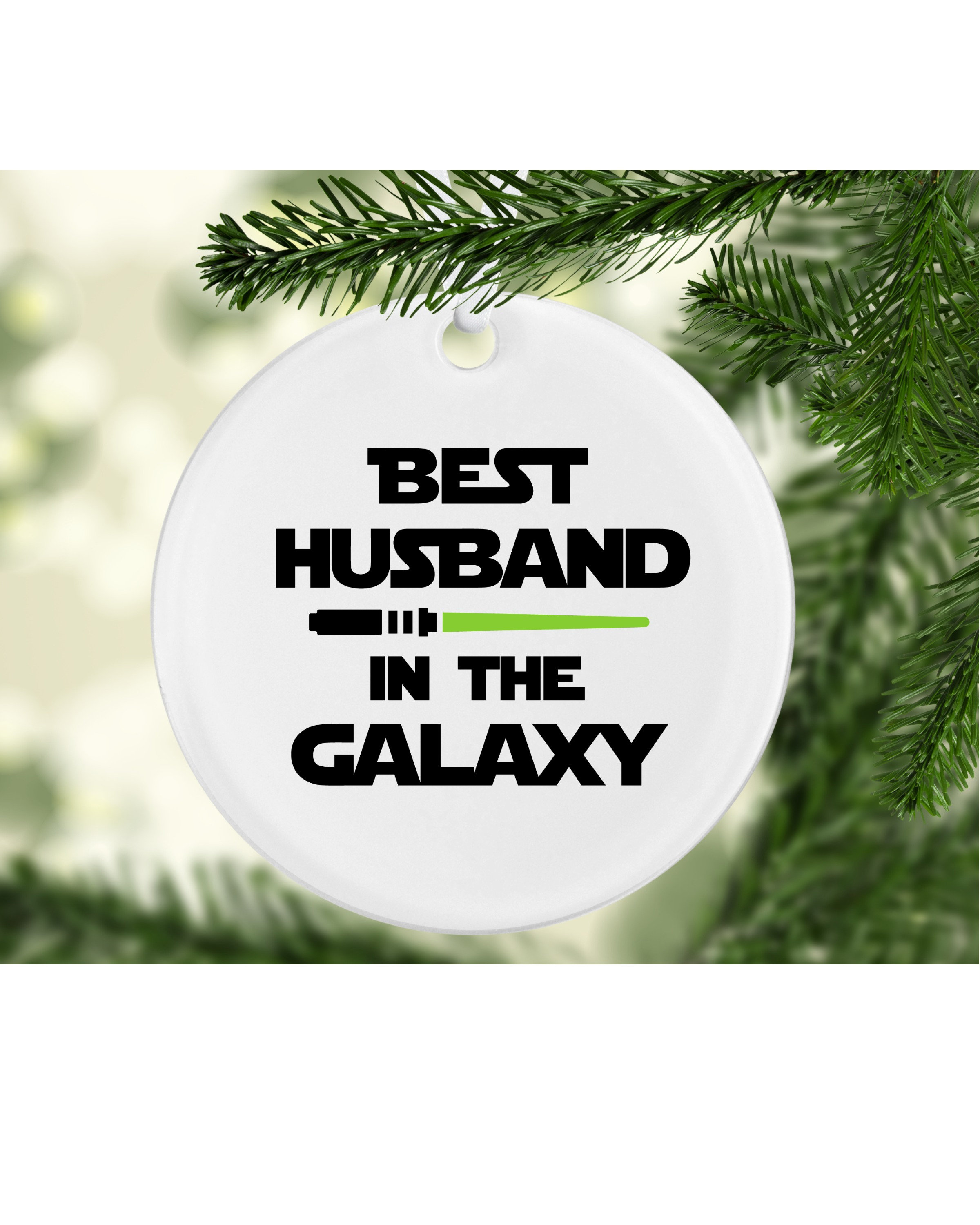 Best Husband in the Galaxy sword Best Husband Ornament | Etsy